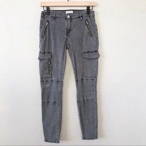 ZARA WOMAN Premium Grey Utility Cargo Pants Jeans